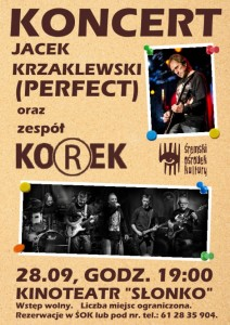 2017 Korek koncert cover